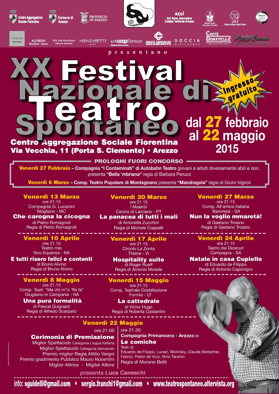Locandina XX Festival Nazionale di Teatro Spontaneo 2015